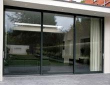Slim Sightlines design for Aluminium Sliding Doors